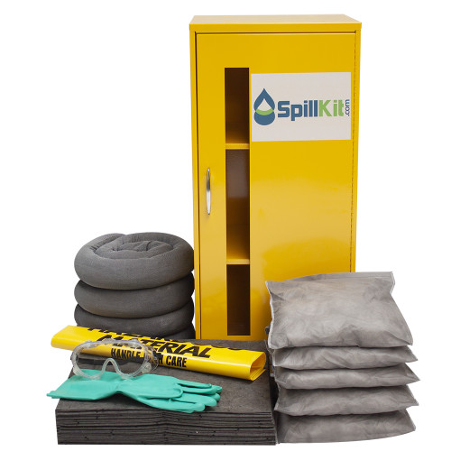Wall-Mount Spill Locker Spill Kit - Universal