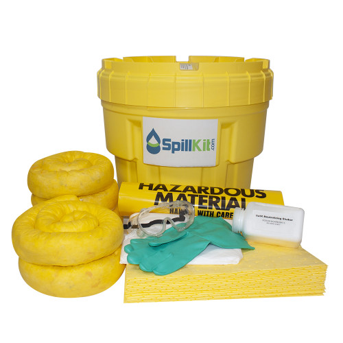 Battery Acid Spill Kit - 20 Gallon Overpack Salvage Drum