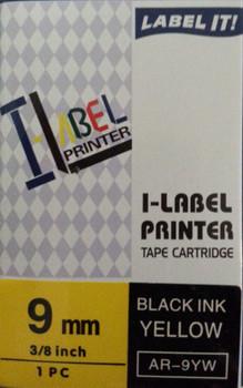 Label Printer Tape Casio - 9mm BLACK on YELLOW 8 metre Casio AR9YW