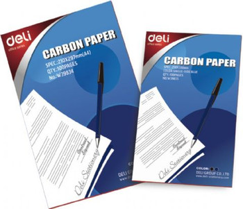 Stand A4 blue Pencil carbon but it is used for pens as well, for duplicating handwriting This is the standard everyday handwriting carbon paper - Box of 100 sheets