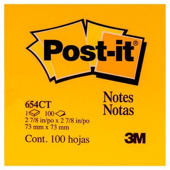 Post it Pad 654CT 73x73mm 100 sheets Yellow