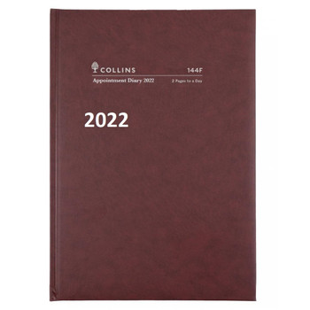 Diary 2022 Appointment 144F A4 15 minutes 2 PAGES TO A DAY January to December FREE Delivery