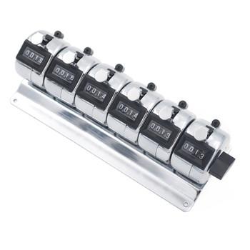 Tally Counter DeskTop 6 bank 4 digit chrome 6 bank counters - Australia (tally6D)