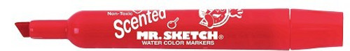 Mr Sketch box 12 colours Flipchart markers Chisel Tip RED