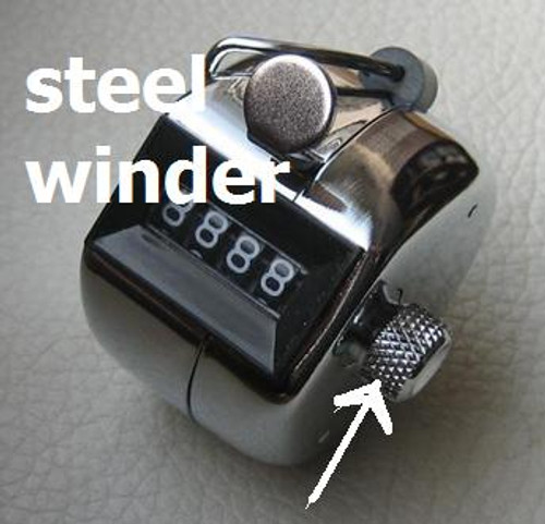 Tally counters Australia Hand-Held 4 digit 0000-9999 FULL STEEL chrome - Has a full steel winder - this is the best one