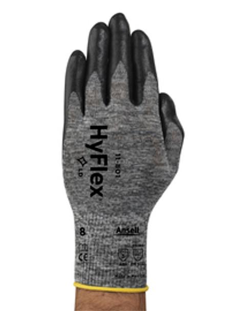 15 Gauge Foam Nitrile Coated Gloves, Glove Size:2x Large, Black/Gray