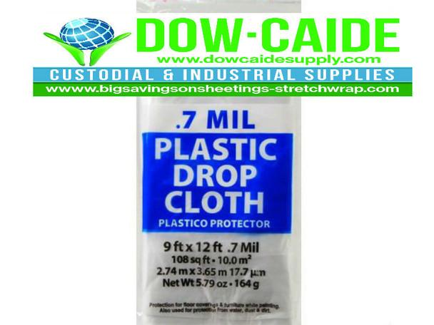 Drop Cloths  9' X 12'.0007 30/CS DCHK-07   Sold by the Case    30 drops cloths per case