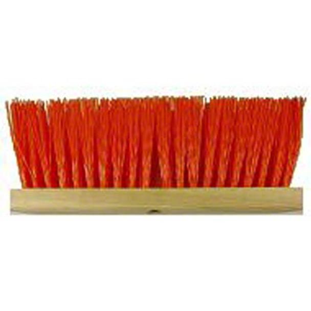 """Better Brush Orange Poly Street Broom - 16"""""""