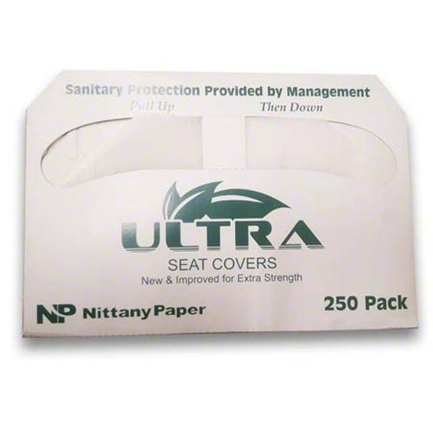 "Ultra 1/2 Fold Seat Cover Item # NIT-TSCR20250SS 14"" x 16.75"" 20/250/cs"