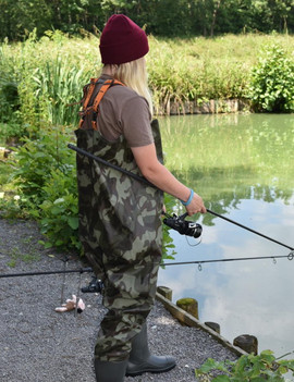 Camo Nylon Chest Wader LucyGruber