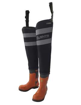 Ollyskins Neoprene Thigh Waders Chainsaw Boot