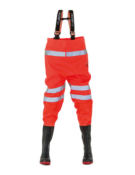 Ollyskins 2640 Hi-Viz Safety PVC Chest Waders