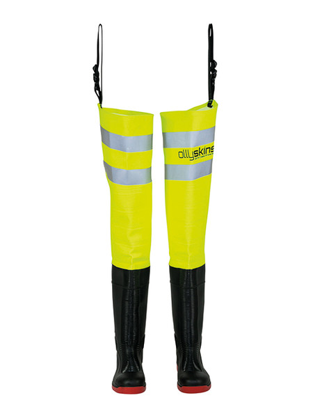 Ollyskins 2624 Hi-Viz Safety Thigh Wader, HV Yellow