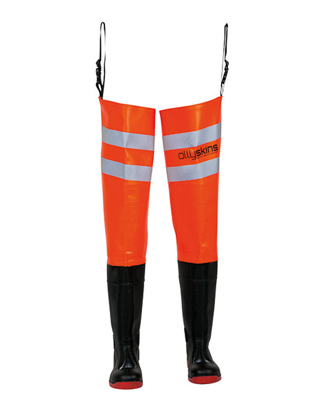 Ollyskins 2628 Hi-Vis Wader Safety Thigh, HV Orange