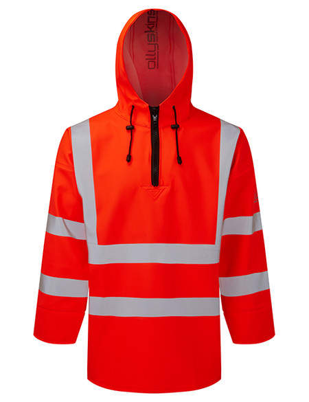 Ollyskins 3240 PVC Hi-Viz Orange Waterproof Smock