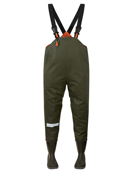 Ollyskins 2580 Kids Chest Waders, Green