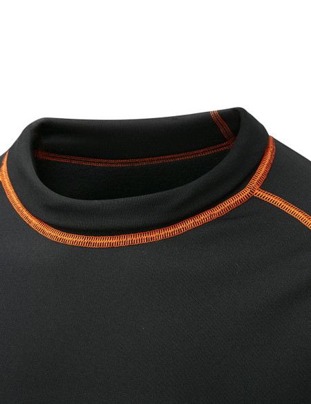 Collar in rolled down position