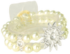 ***Limited Edition*** Floral Corsage Bracelet - Crystal and Ivory Pearls - Vintage Chic