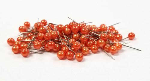 """Floral Corsage / Boutonniere Pin 3/4"""" Pixie Orange 100pcs"""