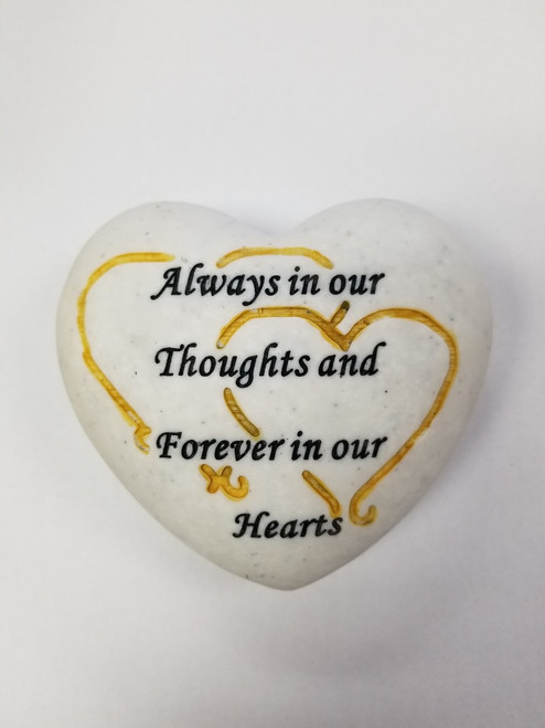 Resin Heart Keepsake Stone - Always In Your Thoughts