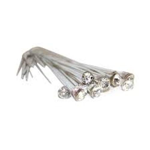 Corsage Picks - 8.6 mm Rhinestone Pick - Crystal