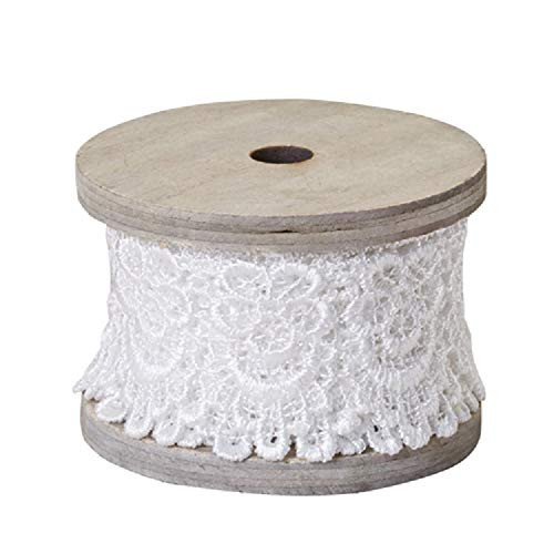 """1.5"""" OASIS Scalloped Lace, Antique White"""