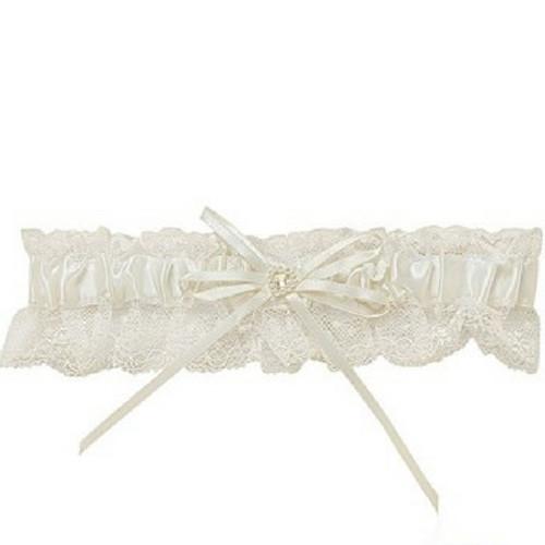 Satin and Lace Wedding Garter - Something New