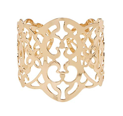Floral Corsage Bracelet in Gold, Filigree Cuff Collection