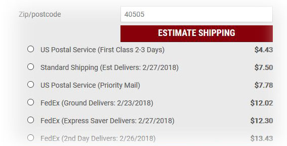 New Lower Shipping Rates- Calculated Real-Time!