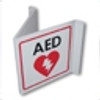 AED V Shaped Wall Sign