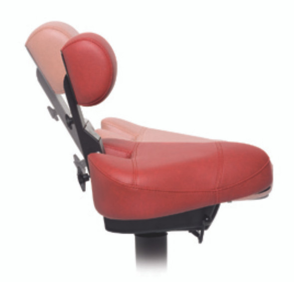 When sitting down on the ErgoDynamic®, the lumbar support automatically comes toward the back, and fits snugly into the hollow contours of the lower back. The natural anatomical S-shape of your spine remains secured even during passive sitting. The purposely down-sized shape of the lumbar support provides optimal freedom of movement and activates stretching of the entire spine. The scissor mechanism of the Dynamic® guarantees the best stabilization of your lower back.