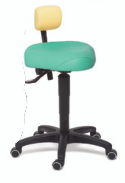The seat and lumbar support of the CorrectSit® (usa design patented) are identical to the seat and lumbar support of the ErgoDynamic®, with the difference that they are manually operated with easily adjustable handles. The tilting mechanism, the height of the seat, the seat depth and the height of the lumbar support are all easily adjustable by the two or three manual handles on the side. The settings of the chair are not influenced by the weight or the height of the user, which makes for an extremely versatile chair for multiple users in medical clinics, operatories, beauty salons, dental hygienists, creative studios, musicians, amongst others.