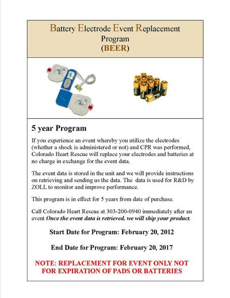Zoll Batt/Pad Event Replacement Program