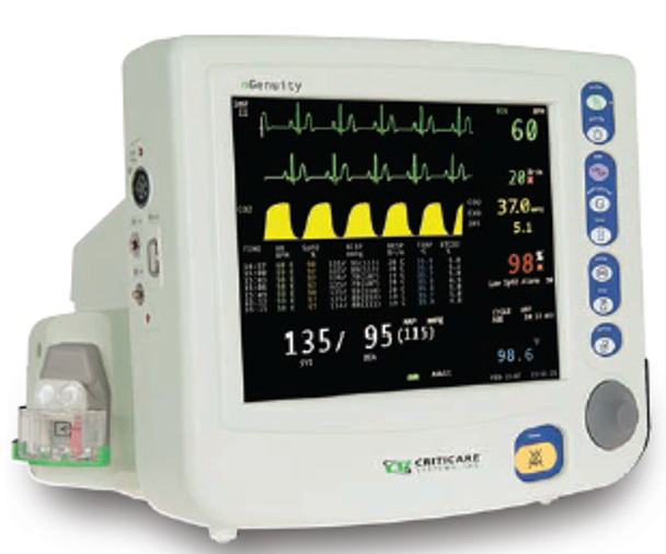 CritiCare nGenuity 8100EP1 Monitor with Capnography