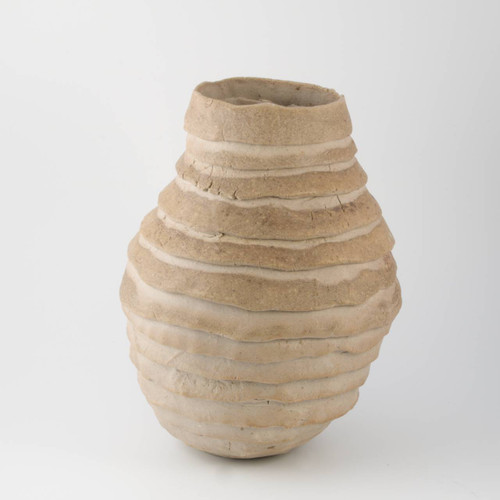 Wood fired clinker vase