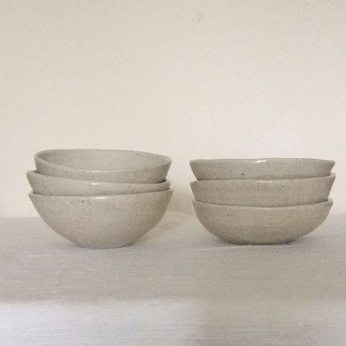 Small ash glazed bowls