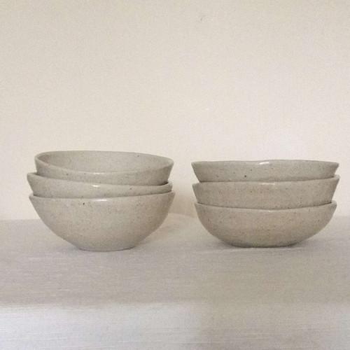 Small ash glazed bowls