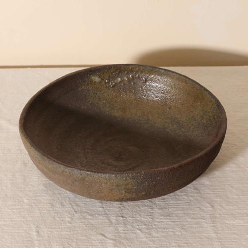 Unglazed wood fired serving bowl