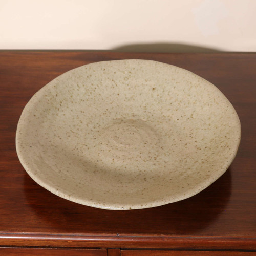 Large ash glazed platter