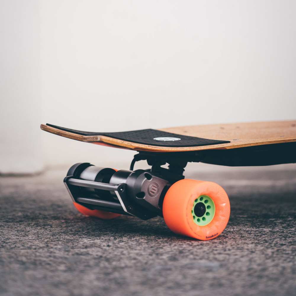 Evolve Bash Guard Kit on Evolve Skateboard