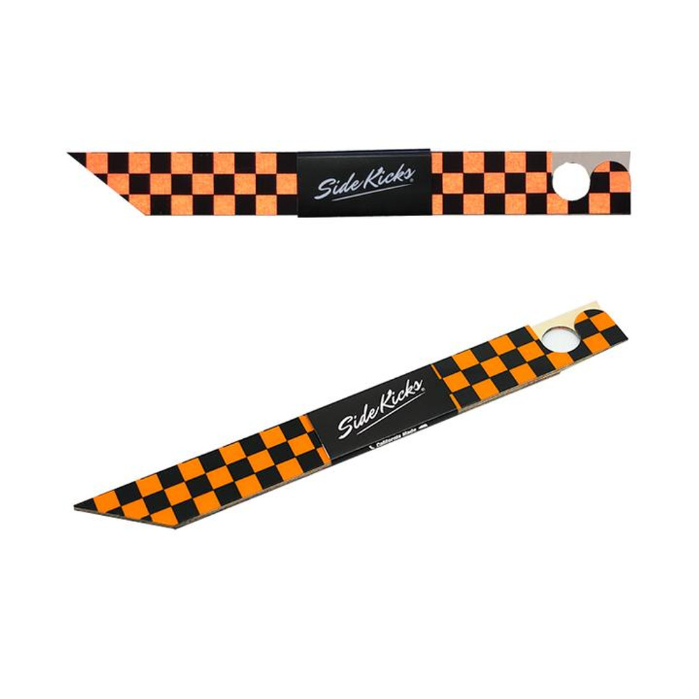Checkered Orange and Black
