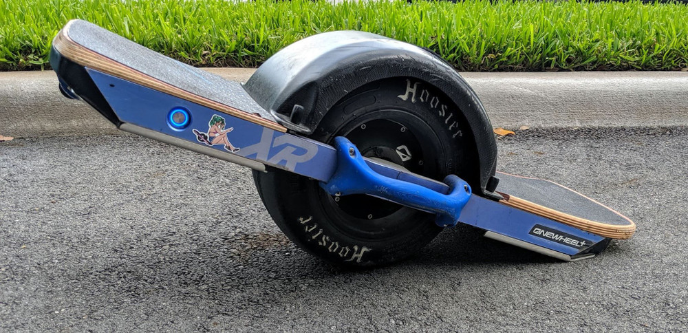 Armor-Dilloz Stainless Steel Armor Plates installed on a Onewheel+ XR.