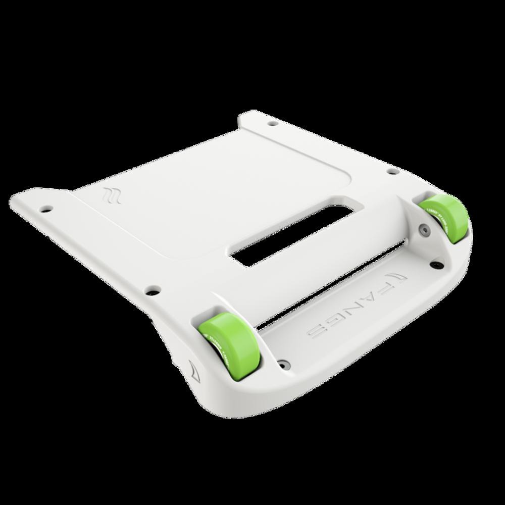 White Bumper / Lime Green Wheels