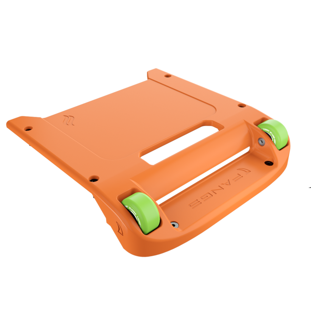 Orange Bumper / Lime Green Wheels