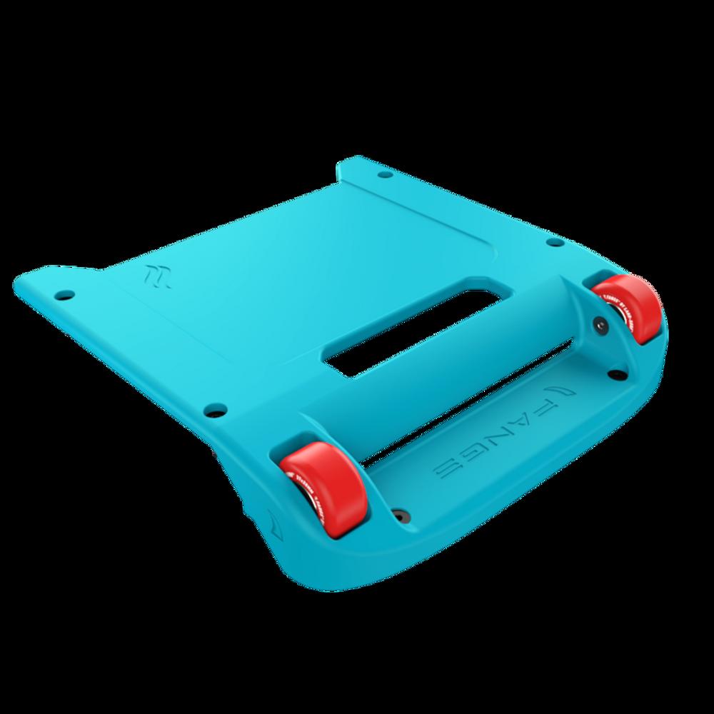 Blue Bumper / Red Wheels