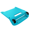 Blue Bumper / Black Wheels