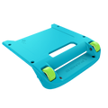 Blue Bumper / Lime Green Wheels