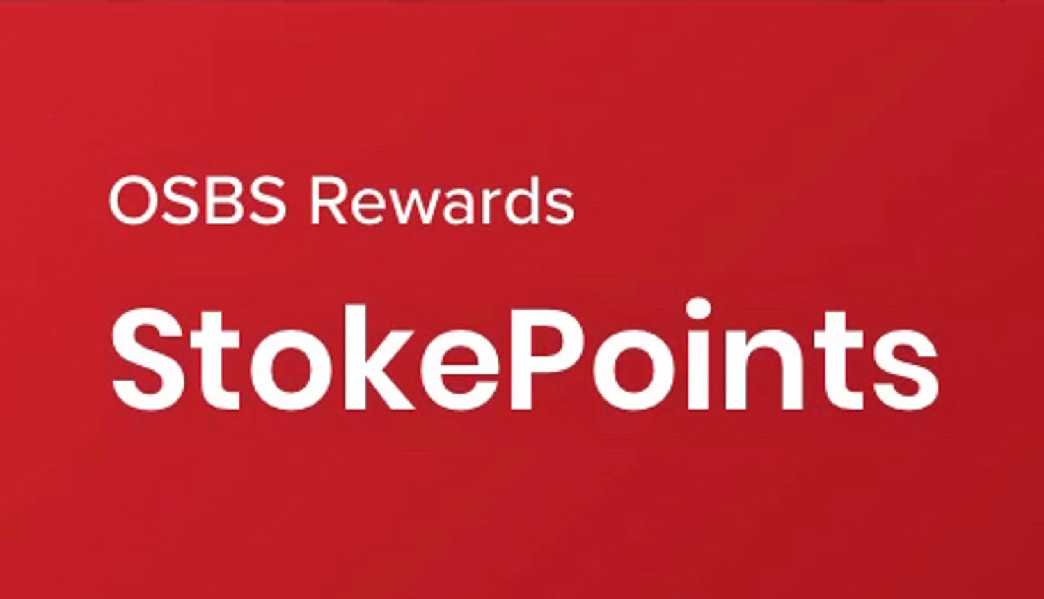 OSBS Rewards - StokePoints