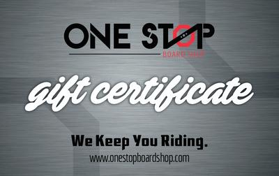 One Stop Board Shop Gift Certificate