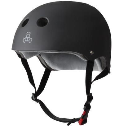 The Certified Triple 8 Sweatsaver Helmet in Black